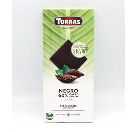 Torras Negro Dark 60% čokoláda se stévií 100g