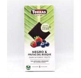 Torras Negro Dark čokoláda s lesním ovocem a stévií 125 g