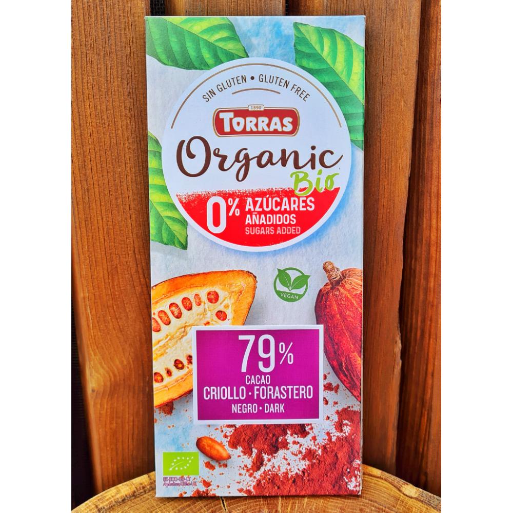 Torras Organic Dark 79% čokoláda s erytritolem 100g