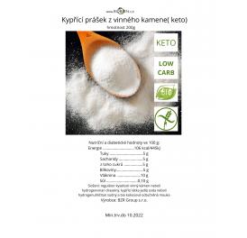 Kypřící prášek z vinného kamene( keto) 200g